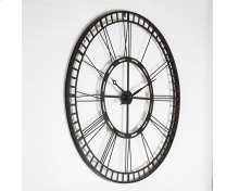 Black Metal Square Rim Roman Numeral Wall Clock
