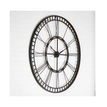 Black Metal Square Rim Roman Numeral Wall Clock