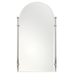 "Polished Nickel 20"" x 35"" Small Framed Mirror"