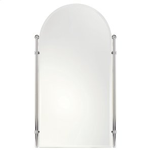 "Satin Nickel 20"" x 35"" Small Framed Mirror"