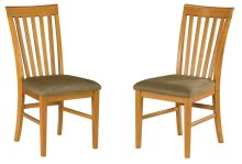 Mission Dining Chairs Set of 2 with Cappuccino Cushion in Caramel Latte