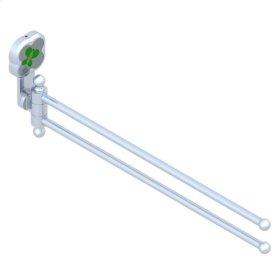 Double Towel Rail - 2 Mobile Rails - L : 400 Mm Diameter : 16 Mm