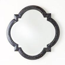 Quatrefoil Mirror-Black Cerused Oak
