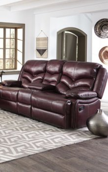 STANDARD 4074632 Denali Leather Power Reclining Loveseat