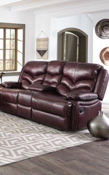 STANDARD 4074632 Denali Leather Power Reclining Loveseat