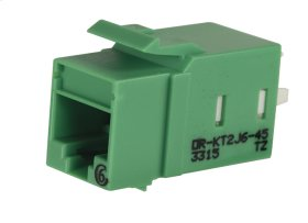 Category 6 Keystone Jack, Lacing Cap Termination, Green