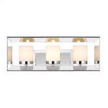 Smyth 3 Light Bath Vanity in Chrome with Cased Opal Glass