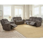 "Anastasia Recliner Loveseat Grey 66.5""x39.5""x43"" Product Image"