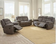 "Anastasia Recliner Loveseat Grey 66.5""x39.5""x43"""