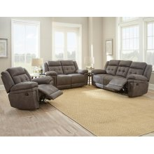"Anastasia Recliner Sofa Grey 88""x39.5""x43"""