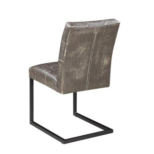 Industrial Dark Brown Dining Side Chair