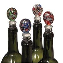 Round Art Glass Bottle Stopper (4 asstd)
