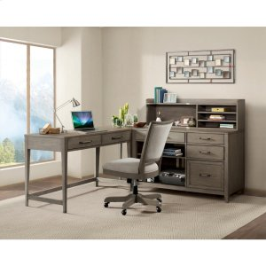 RiversideVogue - Upholstered Desk Chair - Gray Wash Finish