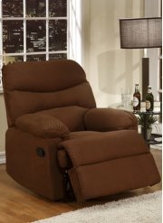 Chocolate Brown Microfiber Recliner Product Image