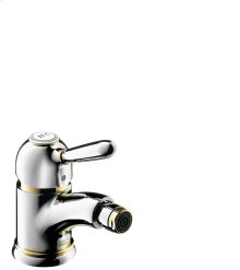 Polished Bronze Single lever bidet mixer with pop-up waste set