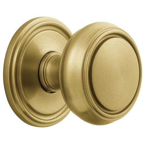 Satin Brass and Brown 5068 Estate Knob