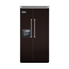 "Chocolate 42"" Side-by-Side Refrigerator/Freezer with Dispenser - VISB (Integrated Installation)"
