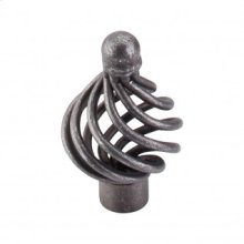 Flower Twist Knob 1 1/4 Inch - Pewter