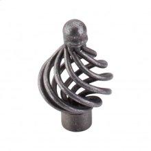 Flower Twist Knob 1 1/4 Inch - Pewter