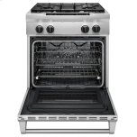 KitchenAid® 30-Inch 4-Burner Dual Fuel Freestanding Range, Commercial Style - Stainless Steel