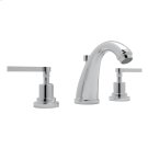 Polished Chrome Lombardia C-Spout Widespread Lavatory Faucet with Metal Lever Product Image
