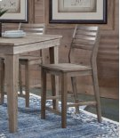 Aspen Ladderback Stool Gray Wash Product Image
