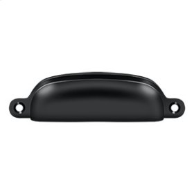 "Exposed Shell Pull 4"" - Paint Black"