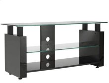 Audio Video Stand Black lacquered finish - fits AV components and TVs up to 52""