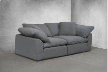 Sunset Trading Cloud Puff Slipcovered 2 Piece Modular Sectional Sofa - 391094