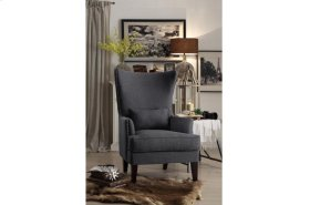 "Accent Chair with Kidney Pillow 1/4"" Charcoal"