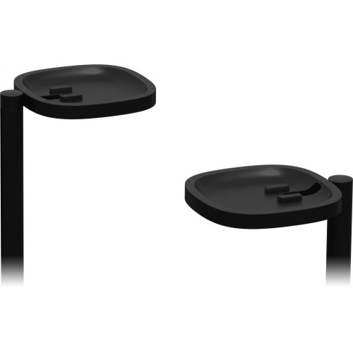 Black- Place your home cinema surrounds in this pair of stands, designed and made by Sonos.