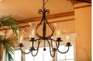 Williamsburg Carriage 6 Arm Iron Chandelier Product Image