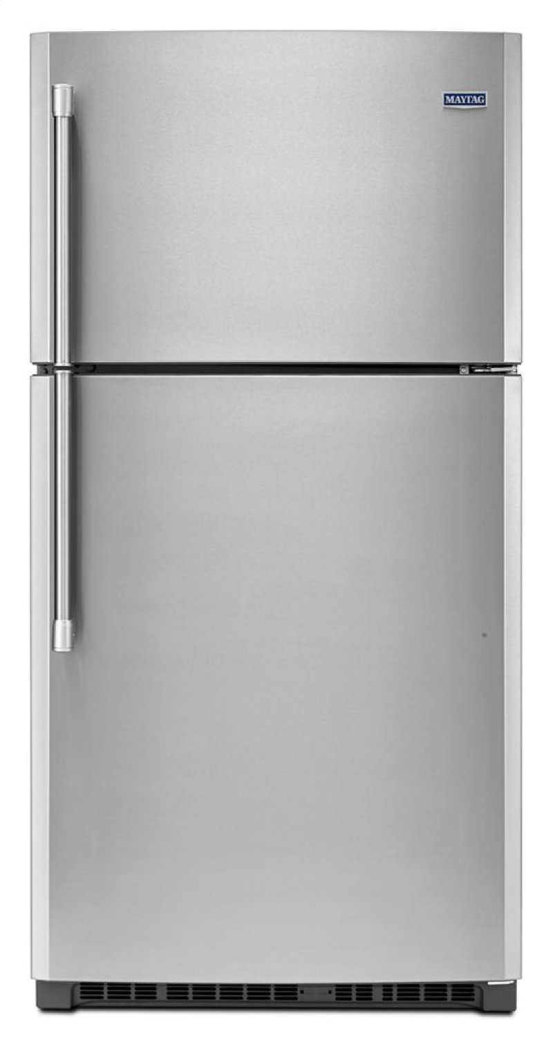 33 Inch Wide Top Freezer Refrigerator With Cold Feature 21 Cu Ft Hidden