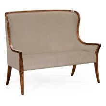 High Curved Back Settee, Upholstered in MAZO