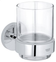 Essentials Crystal glass with holder