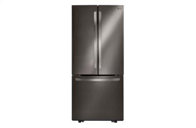 "LG Black Stainless Steel Series 21 cu. ft. Large Capacity 30"" Wide 3-Door French Door Refrigerator Product Image"