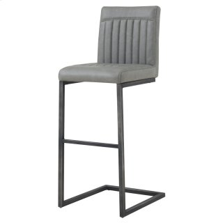 Ronan KD PU Bar Stool, Antique Graphite Gray