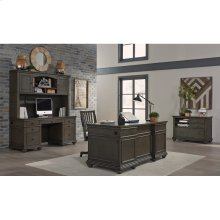"66"" Executive Desk (Available in Whiskey Brown or Peppercorn Grey Finish)"