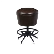 Ale House Gathering Stool with Metal Base and Upholstered Swivel Seat