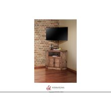 2 Door Corner TV-Stand - Natural Finish