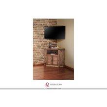 2 Door Corner TV-Stand - Natural Finish