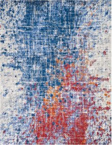 Twilight Twi25 Red/blue Rectangle Rug 7'9'' X 9'9''