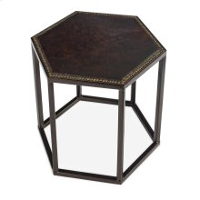 Mallen Leather Cocktail Table, Stool