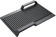Grill plate ribbed Grill plate ribbed for flexInduction Siemens HZ390522