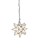 Small Star Chandelier With Frosted Glass. Product Image