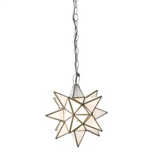 Small Star Chandelier With Frosted Glass.