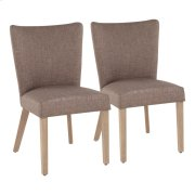 Addison Dining Chair - Set Of 2 - Ash Brown Wood, Grey Fabric Product Image