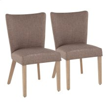 Addison Dining Chair - Set Of 2 - Ash Brown Wood, Grey Fabric