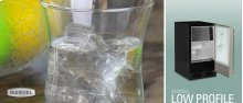 "15"" Low Profile Clear Ice Machine - No Factory-Installed Drain Pump - Solid Black Door - Left Hinge"