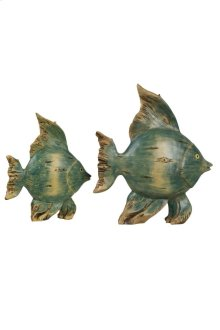 Set of 2 Daphnella finished fish accessories